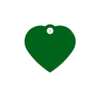 Small Green Heart Dog ID Tag Classic