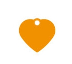 Small Orange Heart Dog ID Tag Classic
