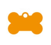 Small Orange Bone Dog ID Tag Classic