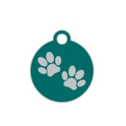 Wholesale Small Disc Two Paws Pink Dog ID Tags x10 Pack