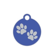 Wholesale Small Disc Two Paws Brown Dog ID Tags x10 Pack