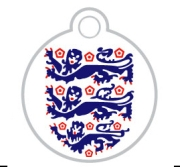 Englands 3 Lions Pet ID Tag Small Disc