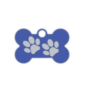 Wholesale Small Bone Two Paws Brown Dog ID Tags x10 Pack