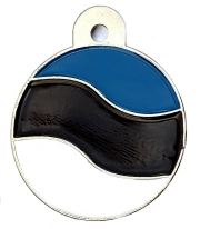 Estonia Flag Large Disc Dog ID Tag