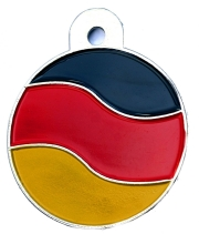 German Flag Large Disc Dog ID Tag