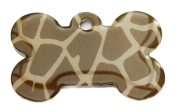 Giraffe Skin Large Bone Dog ID Tags