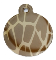 Giraffe Print Large Disc Dog ID Tag
