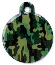 Camo Army Green Large Disc Dog ID Tag