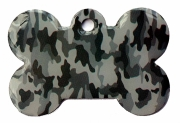 Wholesale Large Camo Army Grey Bone Dog ID Tag
