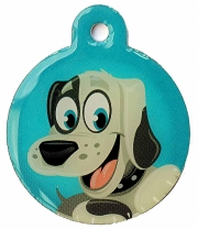 Large Happy Dog Days Dog ID Tag