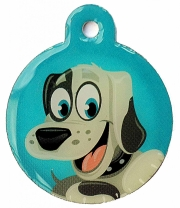 Wholesale Large Black Disc Dog ID Tags x10 Pack