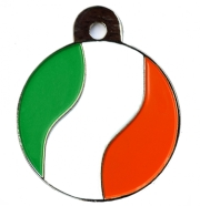 Ireland Flag Large Disc Dog ID Tag