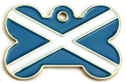 Wholesale Flag Tag Scotland Small Bone Dog ID Tags x10 Pack