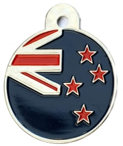 New Zealand Nz Flag Large Disc Dog ID Tag