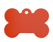 Large Red Bone Dog ID Tag Classic