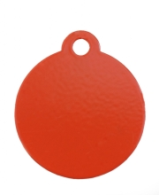 Small Red Disc Dog ID Tag Classic