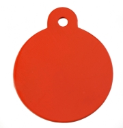 Large Red Disc Dog ID Tag Classic