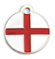 St Georges Flag Dog ID Tag Small Disc