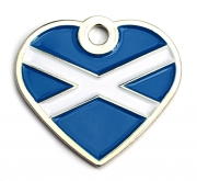 Scotland Flag Dog ID Tag Small Heart