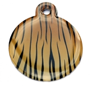 Tiger Skin Large Bone Dog ID Tag