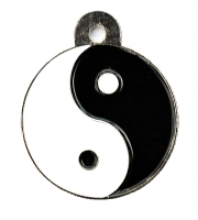 Large Yin Yang Dog ID Tag
