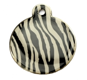 Zebra Skin Large Bone Dog ID Tag