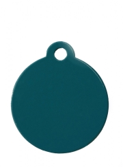 Small Turquoise Blue Disc Dog ID Tag Classic