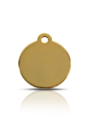Wholesale Small Brass Disc Dog ID Tags x10 Pack