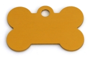 Wholesale Large Gold Disc Dog ID Tags x10 Pack