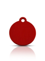 Wholesale Small Red Disc Dog ID Tags x10 Pack