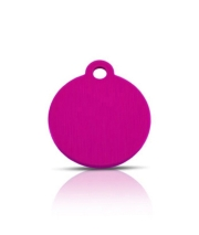 Wholesale Small Pink Disc Dog ID Tags x10 Pack