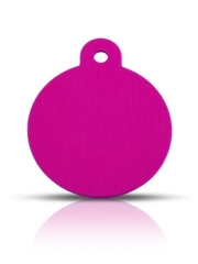 Wholesale Large Pink Disc Dog ID Tags x10 Pack