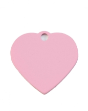 Small Pink Heart Dog ID Tag Classic