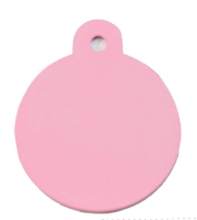 Large Pink Disc Dog ID Tag Classic