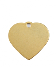 Small Gold Heart Dog ID Tag Classic