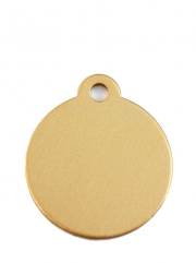 Small Gold Disc Dog ID Tag Classic