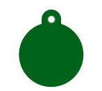Wholesale Large Green Disc Dog ID Tags x10 Pack