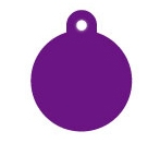 Wholesale Large Purple Disc Dog ID Tags x10 Pack