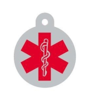 Large Medic Alert Dog ID Tag
