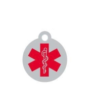 Small Medical Alert Dog ID Tag