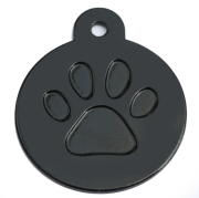 Round Black Merit Range Dog ID Tags