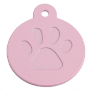 Round Pink Merit Range Dog ID Tags