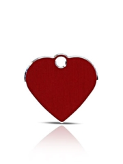 Small Red Heart Pet ID Name ID Tags Hi Line