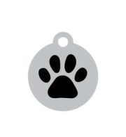 Wholesale Small Silver Disc And Black Star Dog ID Tags x10 Pack