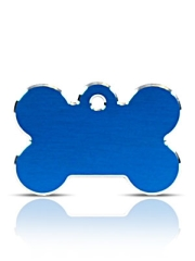 Large Blue Bone Pet ID Tags Hi Line