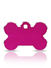 Large Pink Bone Pet ID Tags Hi Line