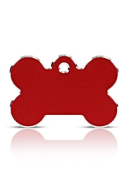 Large Red Bone Pet ID Tags Hi Line