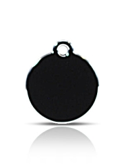Small Black Disc Pet Name ID Tag Hi Line