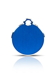 Small Blue Disc Pet Name ID Tag Hi Line