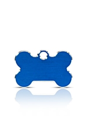 Small Blue Bone Pet Name ID Tags Hi Line